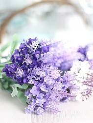 1 Ramo Poliéster Lavanda Flor de Mesa Flores artificiais