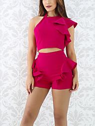 Mujer Tank Top Pantalón Trajes Poliéster