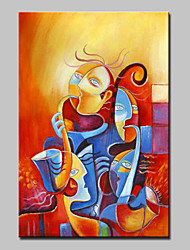 Hand-Painted Modern Abstract Music Life Oil Painting On Canvas Wall Art Picture For Home Decoration Ready To Hang