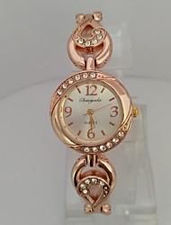 Жен. Женские Модные часы Часы-браслет Китайский Кварцевый Цифровой Позолоченное розовым золотом сплав ГруппаБлестящие Повседневная