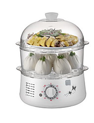 Kitchen Mini Double-deck Electric Steamer Egg Cooker