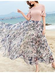 Damen Urlaub Maxi Röcke Schaukel Blumen Sommer