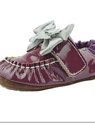 Girls' Flats First Walkers Leatherette Spring Fall Outdoor Casual Walking Magic Tape Low Heel Burgundy Flat