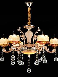 Pendant Light Zinc Alloy Feature for Crystal Mini Style Metal Bedroom Indoor Hallway 6 Bulbs