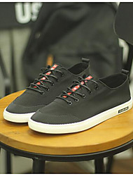 Men's Sneakers Comfort Canvas Summer Casual Comfort Ruby Gray Black Flat