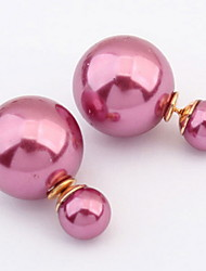 Korean Style Fashion  Adorable  Simple Style Elegant  Double Pearl Earrings Women's Daily Gift Jewelry