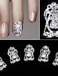 5 peças de diamante oco zircon falso prego patch decoração de unhas 3d