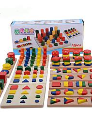 Jogos de Madeira para presente Blocos de Construir Madeira 2 a 4 Anos 5 a 7 Anos Brinquedos
