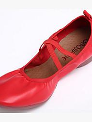 Keine Maßfertigung möglich Damen Tanz-Turnschuh Kunstleder Flach, Ballerinas Praxis Schwarz Fuchsia Rot