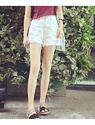 Women's High Waist strenchy Shorts Pants,Street chic Loose Solid