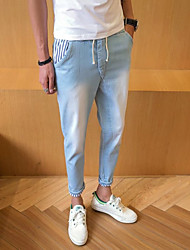 Homme simple Taille Normale strenchy Jeans Pantalon,Droite