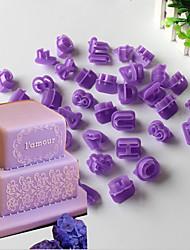 40 Molde para hornear Número Letra para la torta para la galleta Plástico De Armar Ecológico Navidad Halloween día de San Valentín