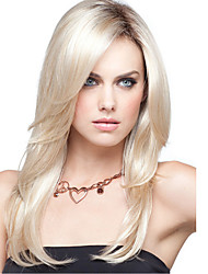 Long Straight Beige Women Synthetic Wigs Fiber Cheap Cosplay Party Wig Hair