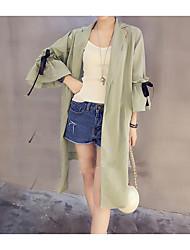 Damen Jacke,Hemdkragen Kurzarm Baumwolle