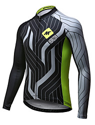 Mysenlan Cycling Jersey Men's Long Sleeve Bike Jersey Quick Dry Breathable Polyester Spring Summer Fall/Autumn
