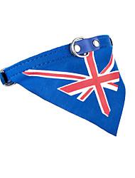 Gato Cachorro Bandanas e Chapéus Gravata/Gravata Borboleta Roupas para Cães Vaqueiro Casual Esportes Bandeira Azul