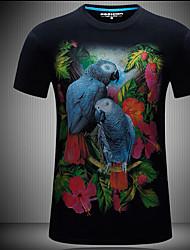 Tee-shirt Homme,Motif Animal simple Eté Manches Courtes Col Arrondi 100% coton Opaque