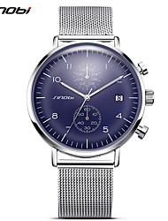 SINOBI Homens Adulto Relógio Esportivo Relógio Elegante Relógio de Moda Relógio de Pulso Único Criativo relógio Chinês QuartzoCalendário