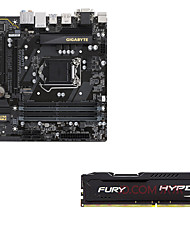 Gigabyte b250m-d3h placa madre kingston hackers dios furia ddr4 2400 8g de memoria