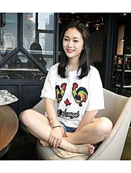 Tee-shirt Femme,Imprimé Quotidien simple Manches Courtes Col Arrondi Autres