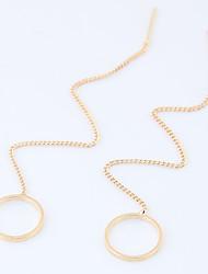 Mulheres Brincos Compridos Moda Euramerican Liga Formato Circular Forma Geométrica Jóias Para Diário Casual 8 pçs