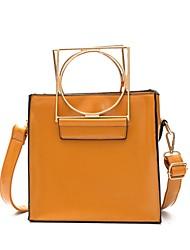 Women Shoulder Bag PU All Seasons Casual Baguette Plated Bubble Mesh Zipper Yellow Gray Blushing Pink Black
