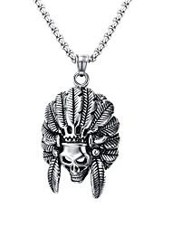 Муж. Ожерелья с подвесками Заявление ожерелья Геометрической формы Нержавеющая сталь Титановая стальМода Панк По заказу покупателя