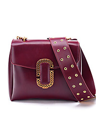 Ladies' fashion handbag restoring ancient ways Rivets wide straps punk wind inclined shoulder bag