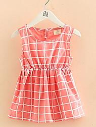 Bow Check Plaid Children's Princess Dress Children's Wear Clothes Summer 2017 Girls' Baby Sleeveless Vest Dress Skirt Gift