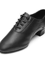 Men Kid Dance Shoes Latin Sandals dance shoes  Low heel  Black Color(238) Customizable