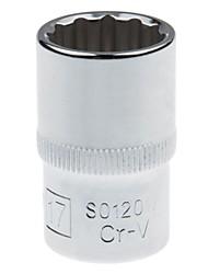 Bouclier en acier 12,5 mm série métrique doublure 12 angles standard 17 mm / 1 support