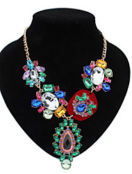 Euramerican Fashion Delicate Luxury  More Beautiful Multicolor Imitation Diamond Lady Party  Necklace Movie Jewelry