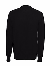 Men's Party Long Cardigan,Solid Round Neck Long Sleeve Wool Spring Winter Thin Micro-elastic
