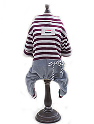 Dog Clothes/Jumpsuit Dog Clothes Cute Fashion Stripe Red Blue
