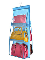 Double-sided Six-layer Bag Hanging Bag Six Handbag Storage Finishing Bag Hanging Multi-layer Perspective Dust