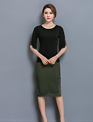 Women's Work Wear Casual/Daily Skirts,Sexy Vintage Lace Summer