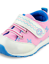 Girls' Flats First Walkers Leatherette Spring Fall Casual Walking First Walkers Magic Tape Low Heel Light Blue Blushing Pink Flat