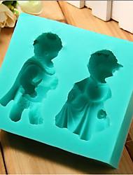 Bear couple modeling turned sugar cake silicone mold