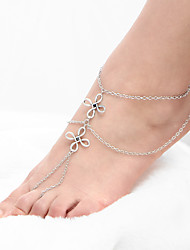 Retro Double-deck  Leg Chain Alloy Jewelry For Casual 1pc