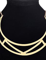 Women's Girls' Choker Necklaces Pendant Necklaces Chain Necklaces Jewelry Geometric AlloyBasic Unique Design Dangling Style Geometric