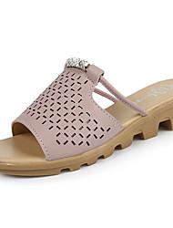 Women's Slippers & Flip-Flops Summer Comfort PU Casual Flat Heel