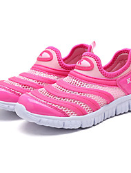 Girls' Athletic Shoes Comfort Tulle Spring Fall Casual Running Split Joint Flat Heel Royal Blue Blushing Pink Dark Blue 2in-2 3/4in