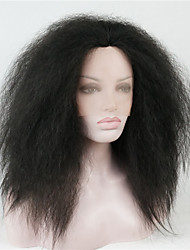 Lace Front Thick Black kinky straight High Heat Ok Full Synthetic Wig