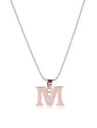 Men's Women's Pendant Necklaces AAA Cubic Zirconia Alphabet Shape Rose Gold Zircon Copper Sexy Punk Hip-Hop Multi-ways Wear Simple Style