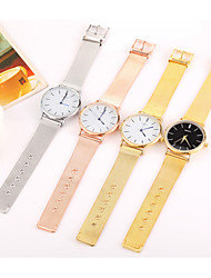 Simple Fashion Weave Stainless Steel Rose Gold Men Watch Women Dress Ladies Watches Top Brand Luxury Quartz Watches For Girls