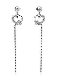 Women's Drop Earrings AAA Cubic Zirconia Heart Costume Jewelry Zircon Platinum Plated Heart Cut Jewelry For Party/Evening Dailywear Gift
