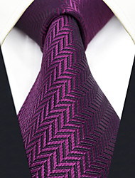 CXL11 New Extra Long For Men's Neckties Violet Solid 100% Silk Casual Classic Business Dress
