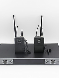 UHF Professional Wireless Microphone System With Bodypack Transmitter Lapel microphone