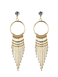 Women's Drop Earrings Unique Design Tassel Love Heart Fashion Bohemian Euramerican Luxury Statement Jewelry Costume Jewelry Alloy Circle