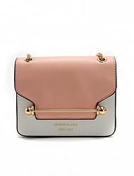 Women Shoulder Bag PU All Seasons Formal Casual Wedding Outdoor Office & Career Professioanl Use Baguette Magnetic Pinky Blue